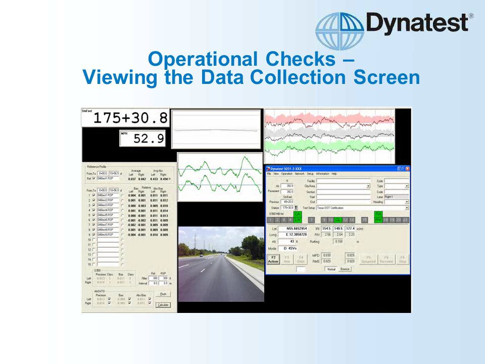 Operational Checks – Viewing the Data Collection Screen