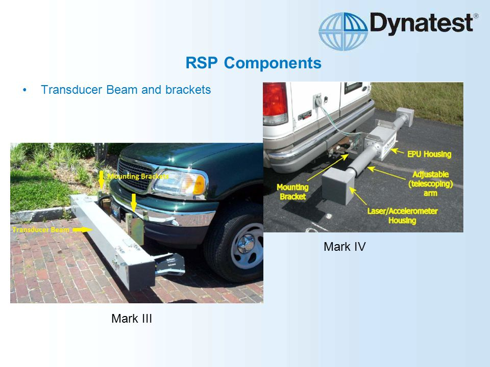 RSP Components Transducer Beam and brackets Mark IV Mark III