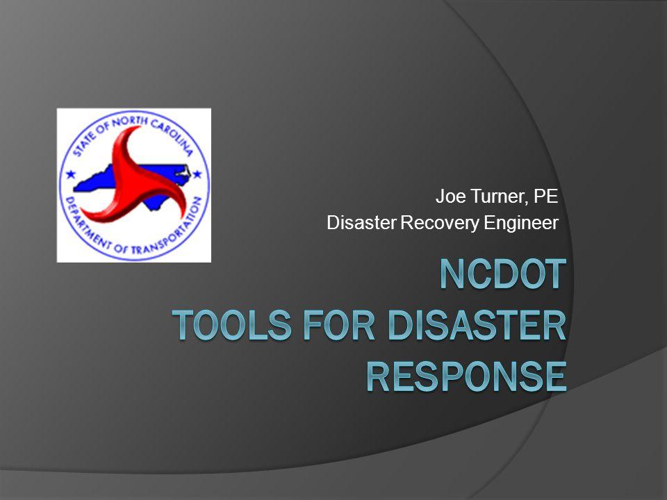 Joe Turner, PE Disaster Recovery Engineer