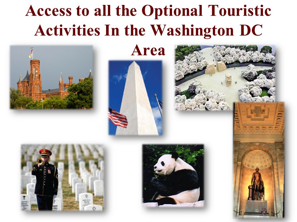 Access to all the Optional Touristic Activities In the Washington DC Area