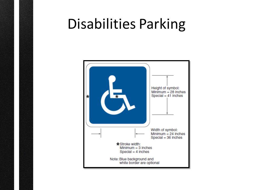 Disabilities Parking