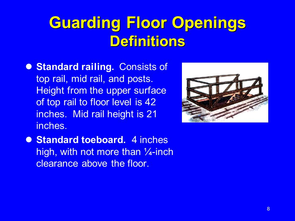19 Fixed Ladders Permanently attached to a structure, building or equipment Cages or wells required if longer than 20 ft.