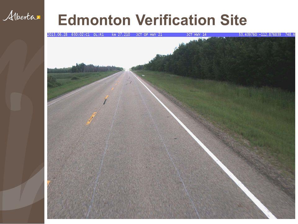 Edmonton Verification Site 18