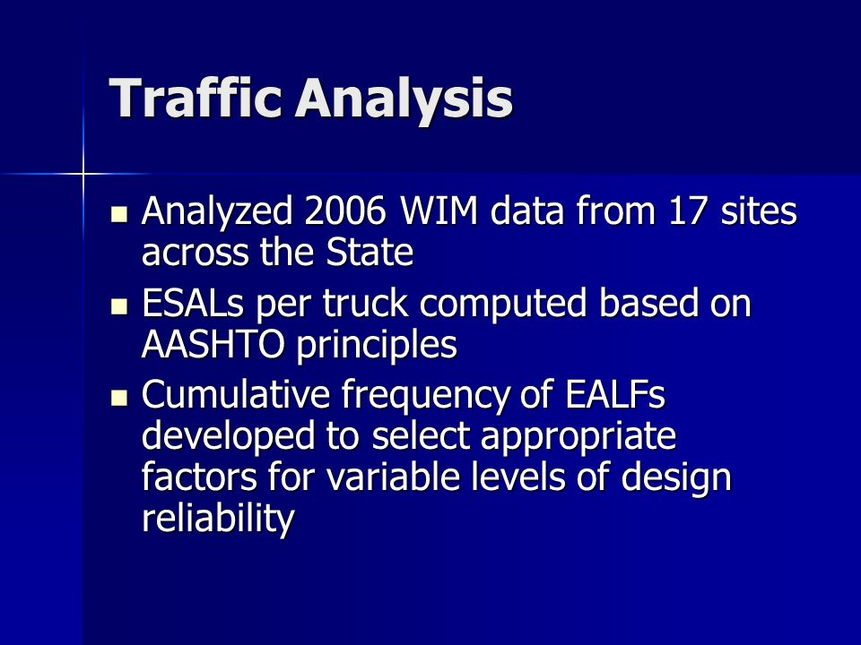 Let's Explore Importing FWD Data Importing FWD Data Adjusting Traffic Adjusting Traffic Computing SN values and Overlay Thicknesses Computing SN values and Overlay Thicknesses