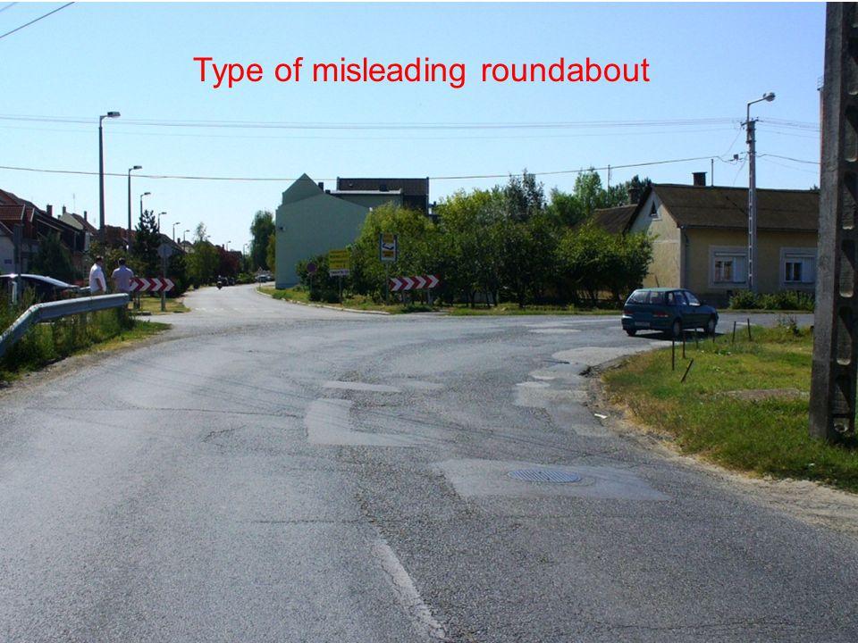 Type of misleading roundabout