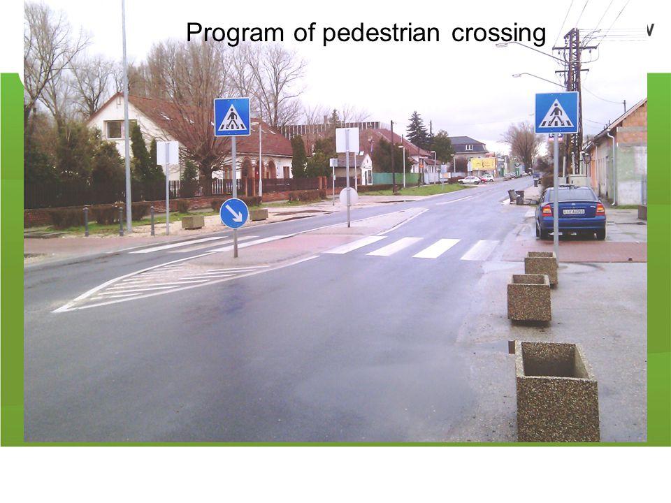 Program of pedestrian crossing