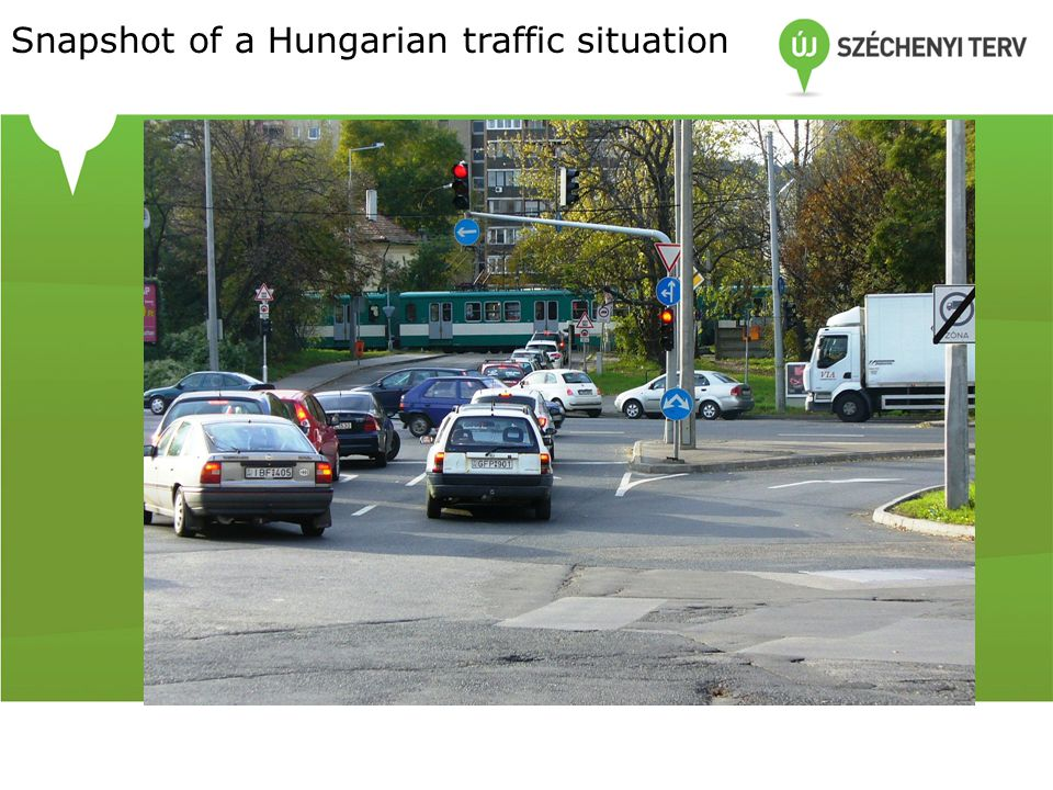 Snapshot of a Hungarian traffic situation