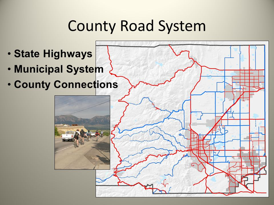 County Road System State Highways Municipal System County Connections