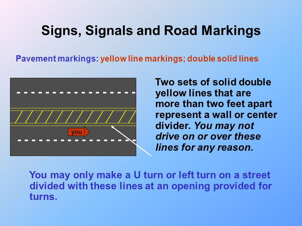 What does this double yellow line mean? Why is it not allowed? Hill and curve combination