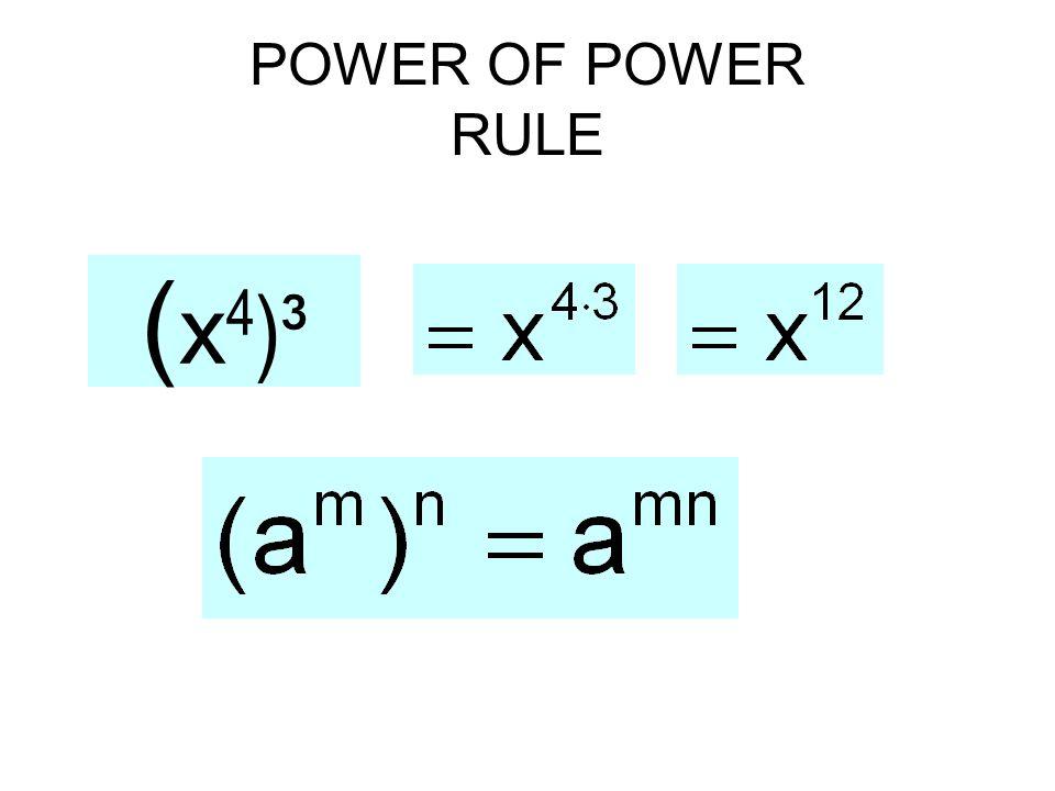POWER OF POWER RULE ( x 4 )³