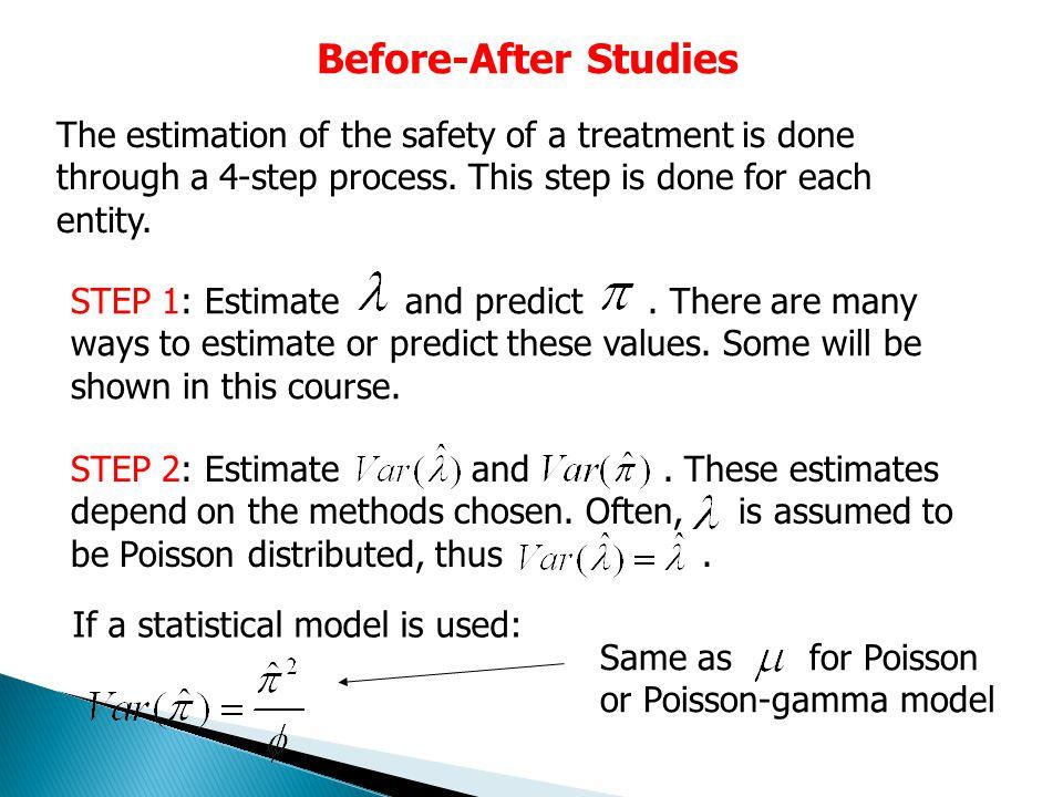 Before-After Studies Coefficient of Variation Factors: Equation: