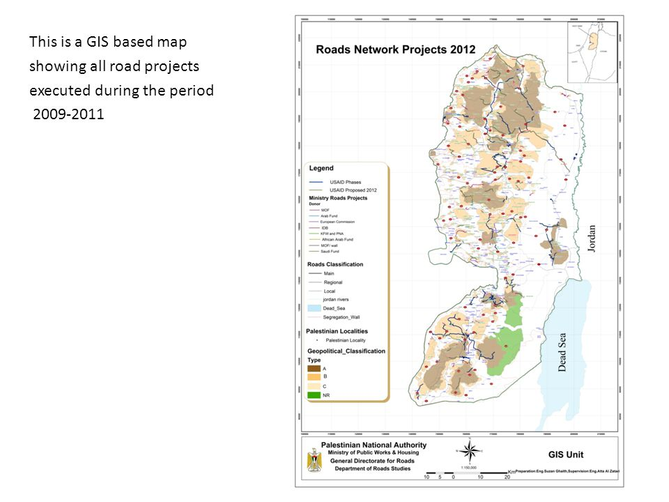 This is a GIS based map showing all road projects executed during the period 2009-2011 5