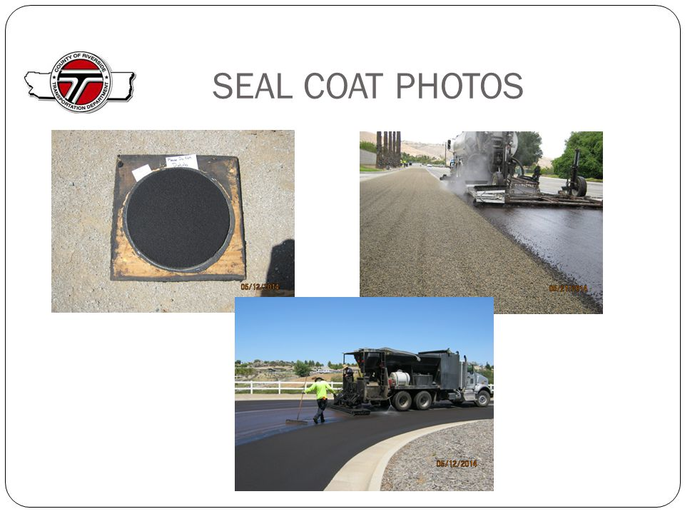 SEAL COAT PHOTOS