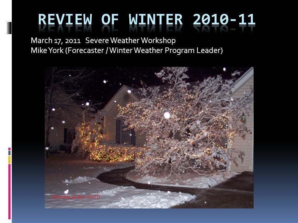 March 17, 2011 Severe Weather Workshop Mike York (Forecaster / Winter Weather Program Leader)