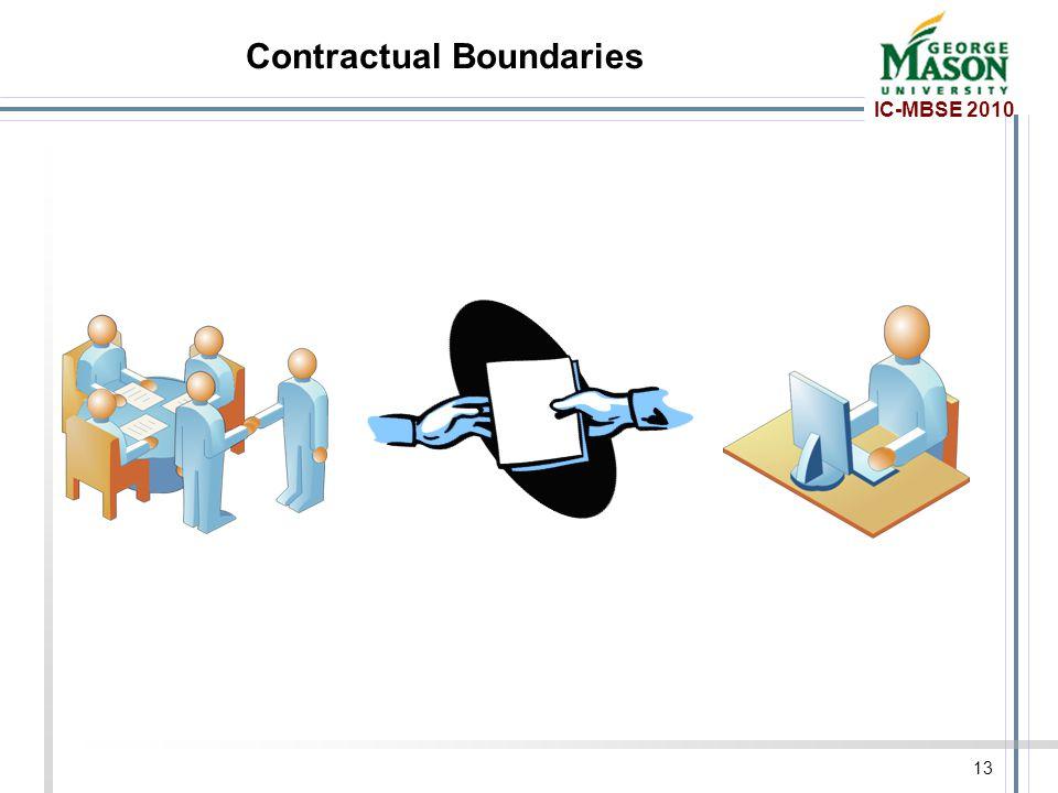 IC-MBSE 2010 Contractual Boundaries 13