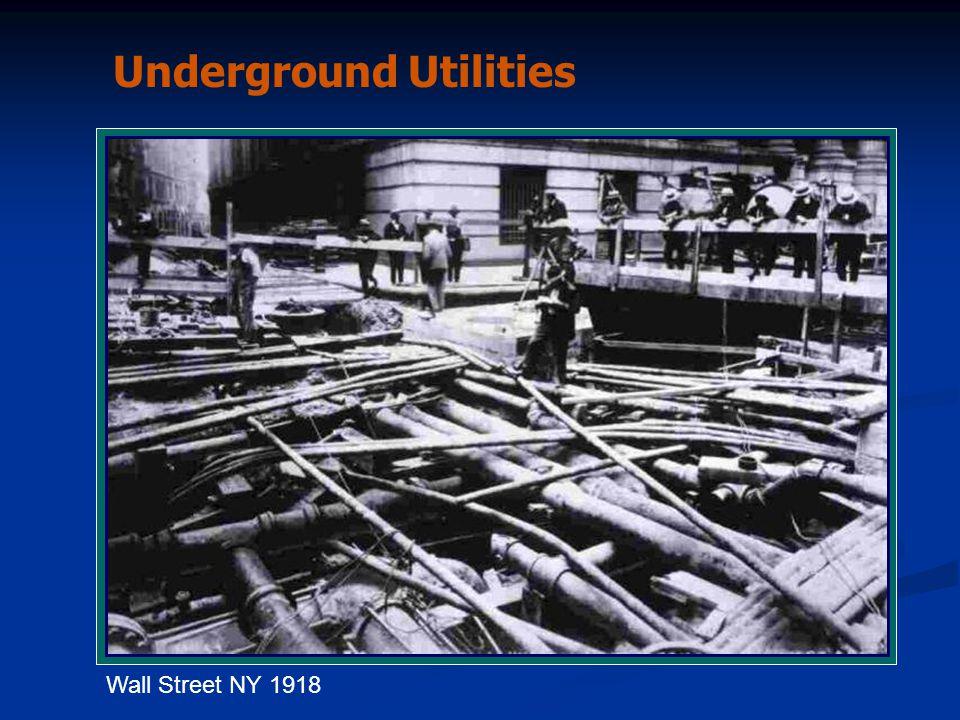 Wall Street NY 1918 Underground Utilities