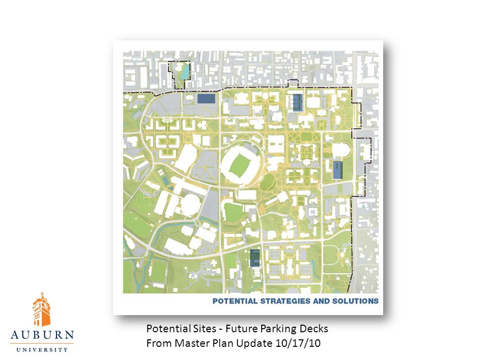 Potential Sites - Future Parking Decks From Master Plan Update 10/17/10