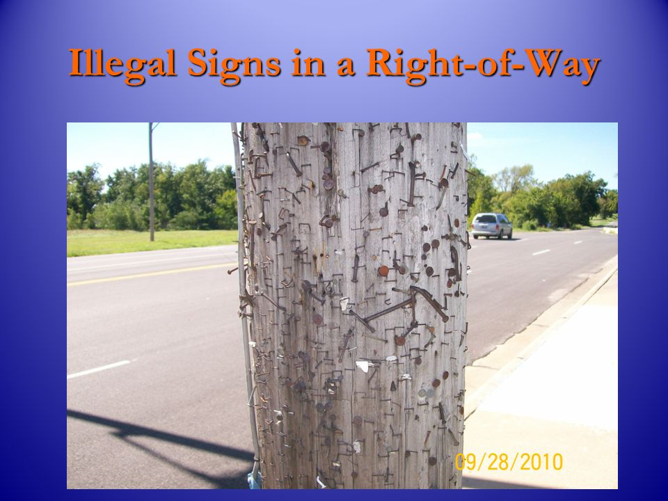 How to Remove Illegal Signs. Do not damage City or private property.