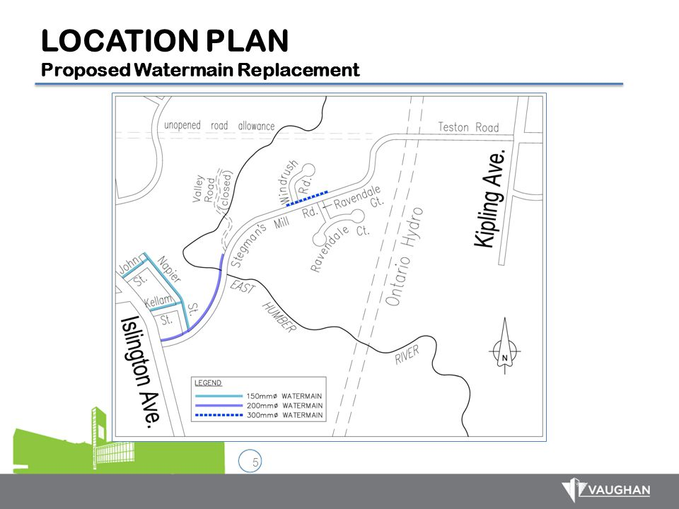 5 LOCATION PLAN Proposed Watermain Replacement