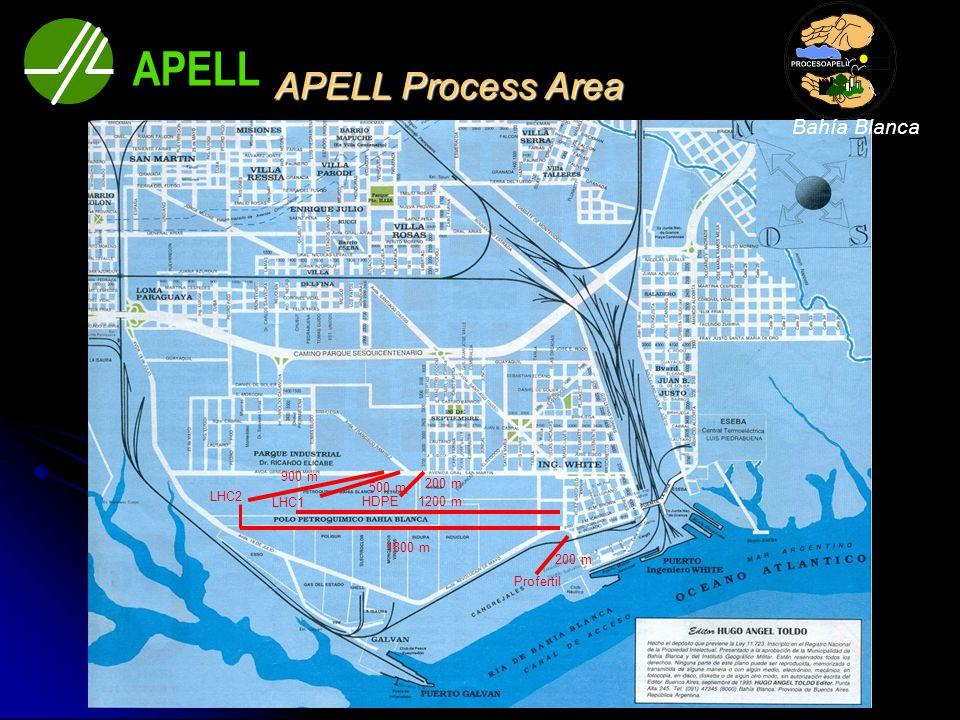 APELL Process Area Profertil 200 m HDPE 200 m LHC2 500 m 900 m 1200 m 1800 m LHC1 APELL Bahía Blanca