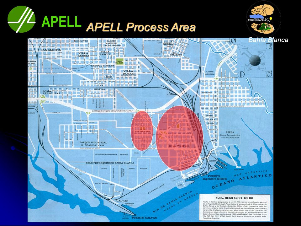 APELL Process Area Kindergartens Primary Schools High Schools Clubs Scouts Child Homes Hospital Critical Group of people APELL Bahía Blanca