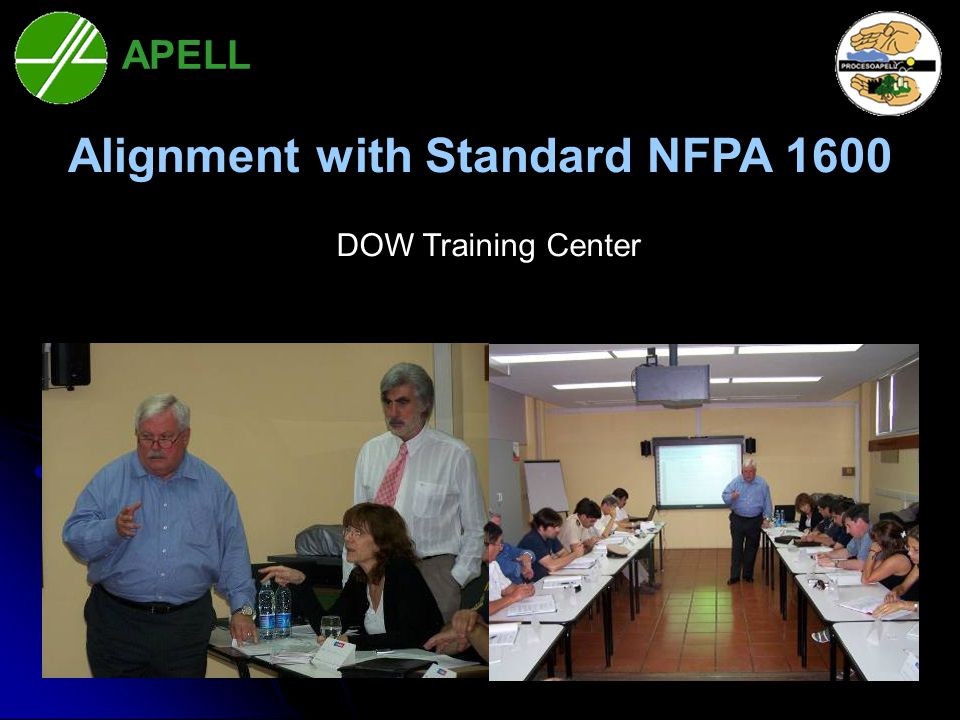 Bahía Blanca Alignment with Standard NFPA 1600 DOW Training Center