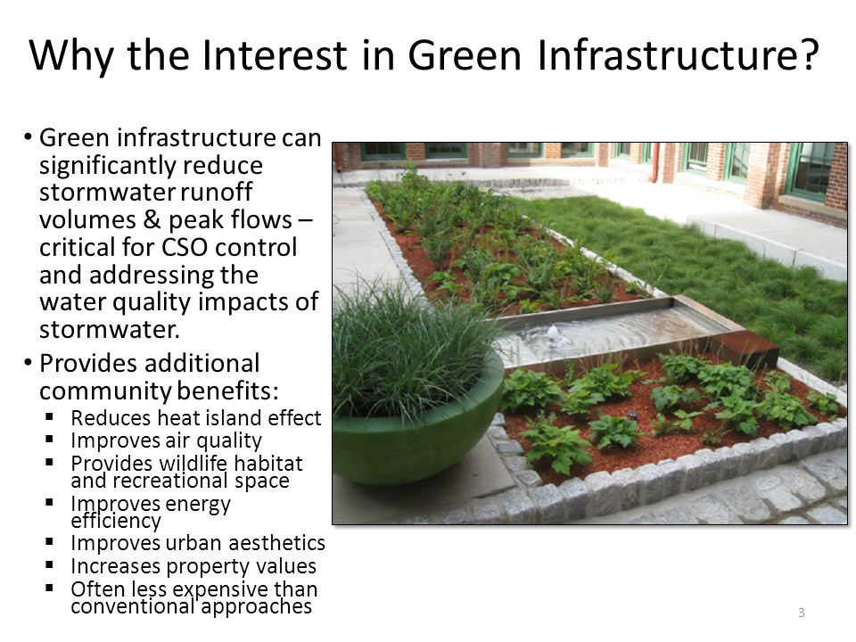 Why the Interest in Green Infrastructure.