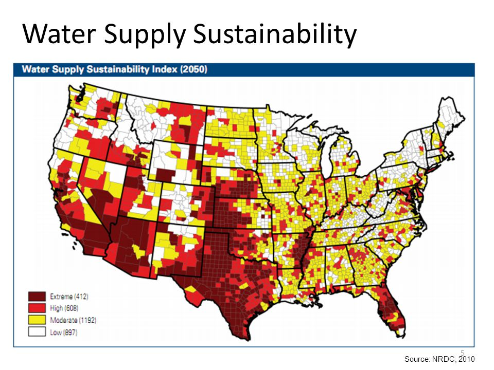 U.S.Water Supply Universal access to potable water supplies.