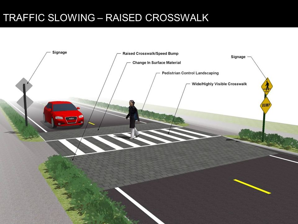 TRAFFIC SLOWING – RAISED CROSSWALK