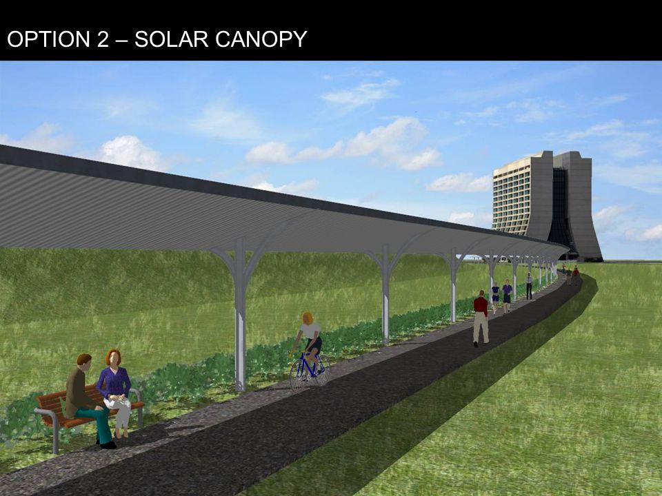 OPTION 2 – SOLAR CANOPY