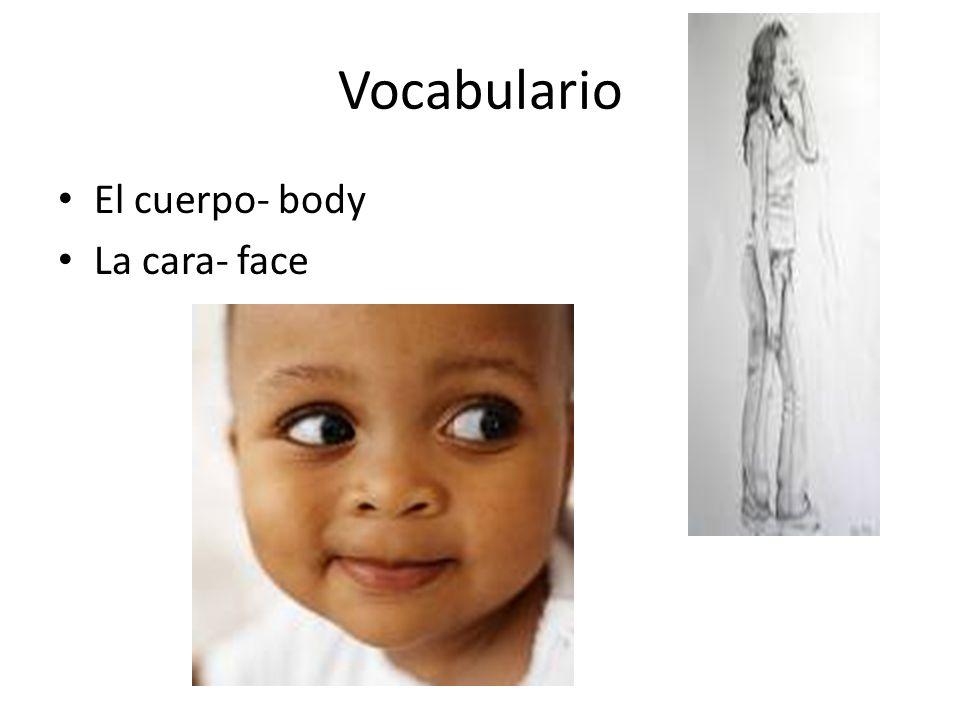 Vocabulario El cuerpo- body La cara- face