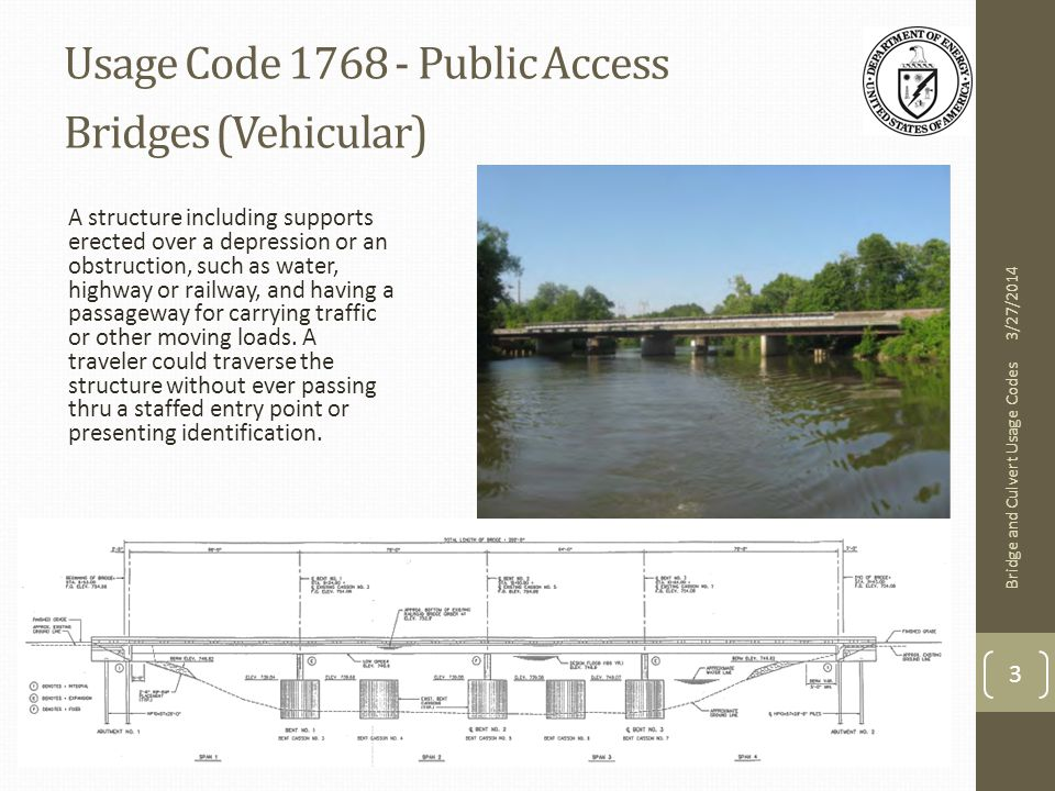 Usage Code 2629 - Culvert A structure or series of multiple pipes constructed to convey water or utilities under a road or railway, or through an embankment.