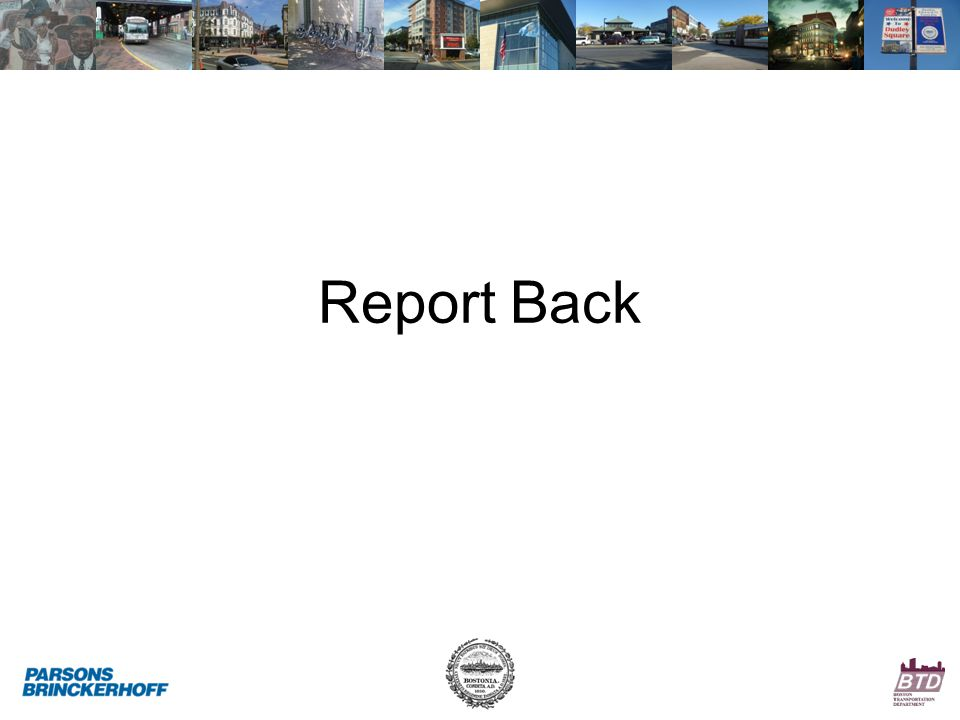 Report Back