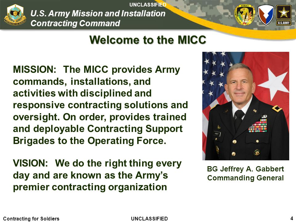 Agile – Proficient – Trusted UNCLASSIFIED Contracting for Soldiers UNCLASSIFIED UNCLASSIFIED 5 U.S.