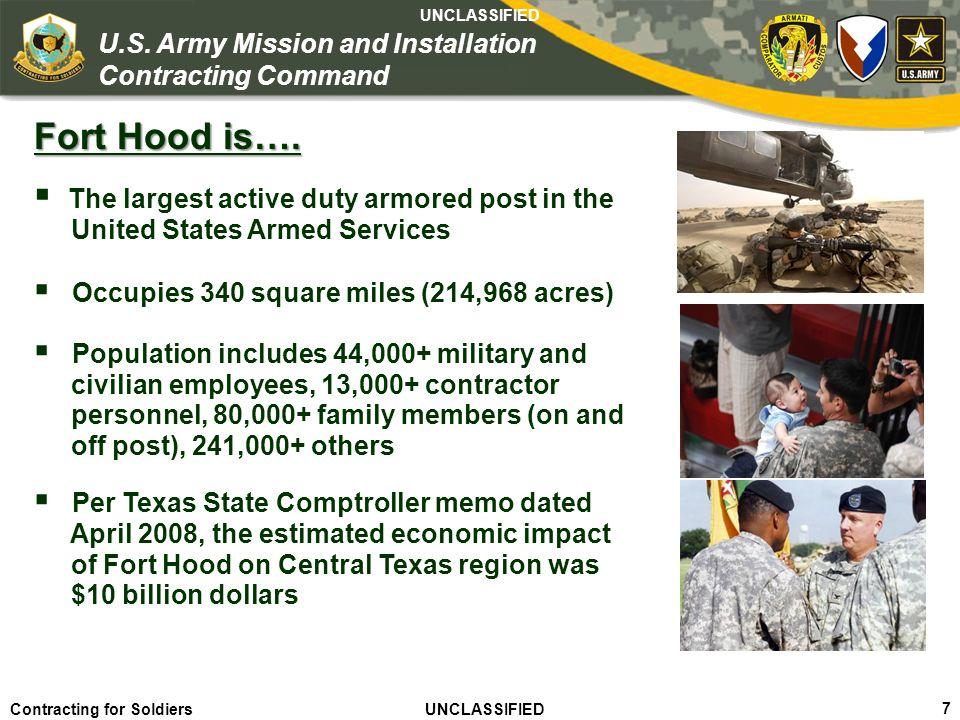Agile – Proficient – Trusted UNCLASSIFIED Contracting for Soldiers UNCLASSIFIED UNCLASSIFIED 18 U.S.