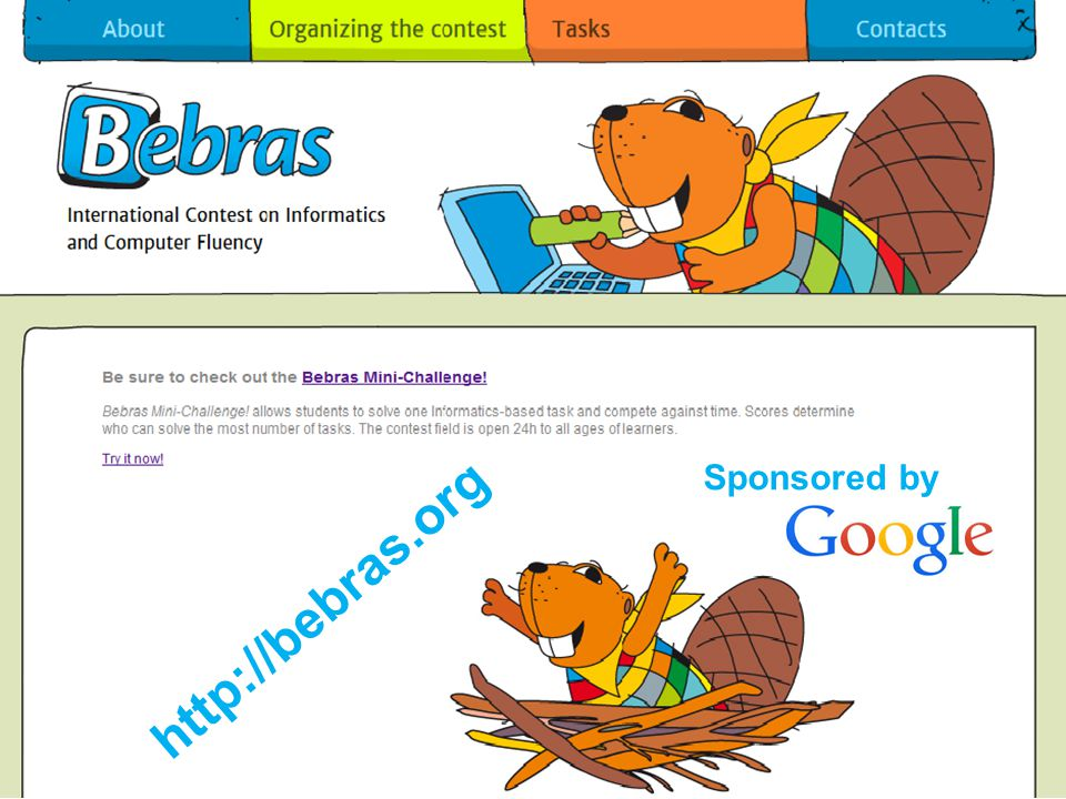 http://bebras.org Sponsored by