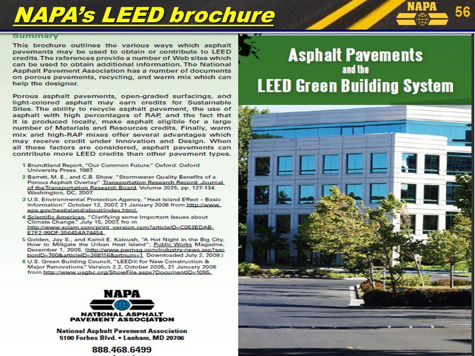 56 NAPA's LEED brochure