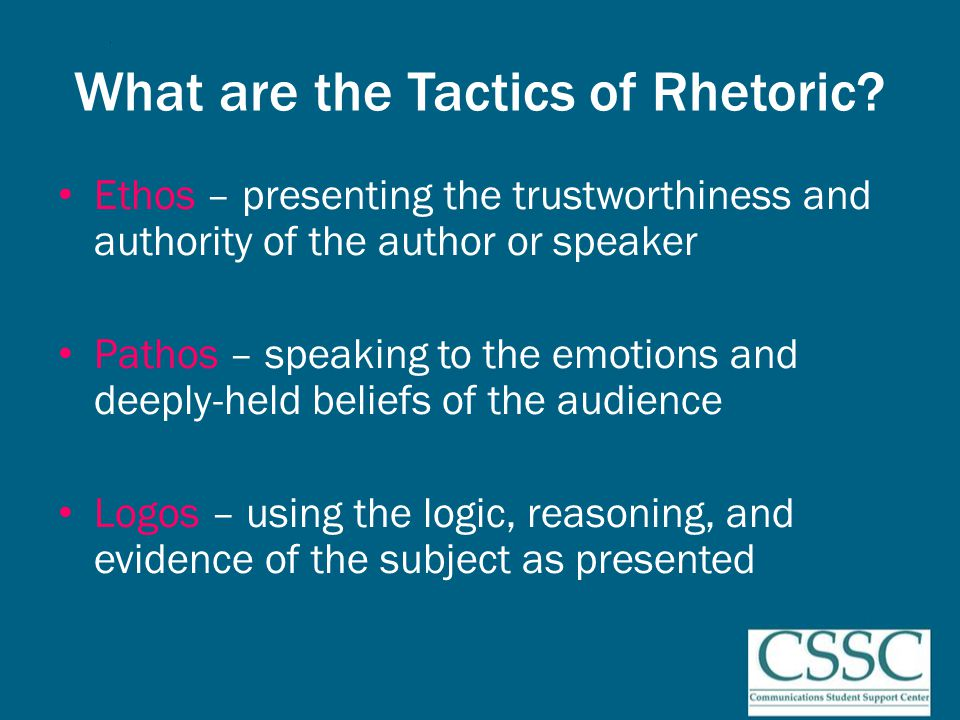 Practical Rhetorical Principles – Passion Compel assent through powerful writing – Use dialogue and debate – Use words laden and loaded – Use logic and reason – Use passion and personal illustration – Use humor and satire – Use humanity and compassion