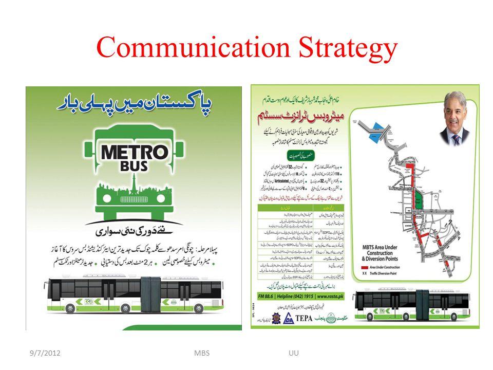Communication Strategy 9/7/2012MBS UU