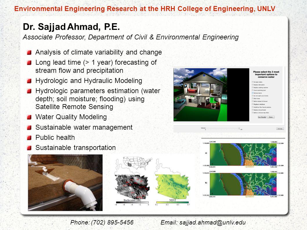 Dr.Sajjad Ahmad, P.E.