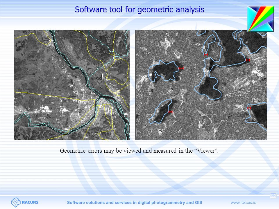 """Geometric errors may be viewed and measured in the """"Viewer"""". Software tool for geometric analysis"""