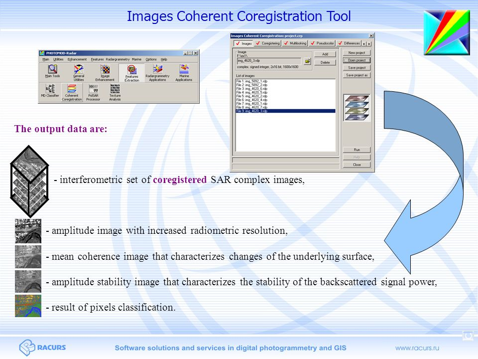 The dialog of the radiometric analysis settings Software tool for radiometric analysis