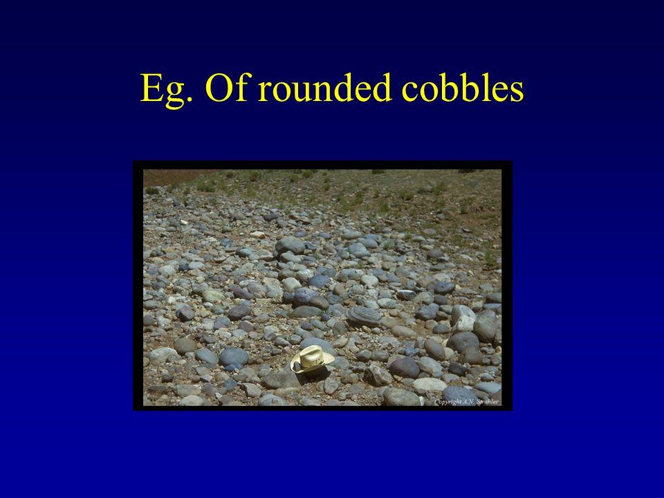 Eg. Of rounded cobbles