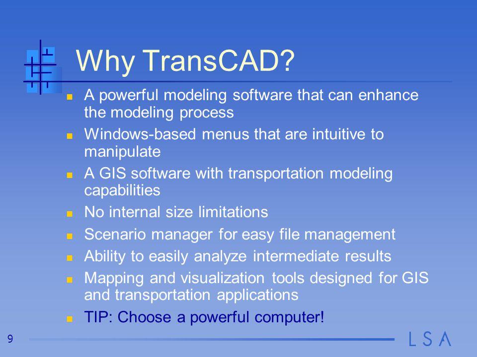 9 Why TransCAD.
