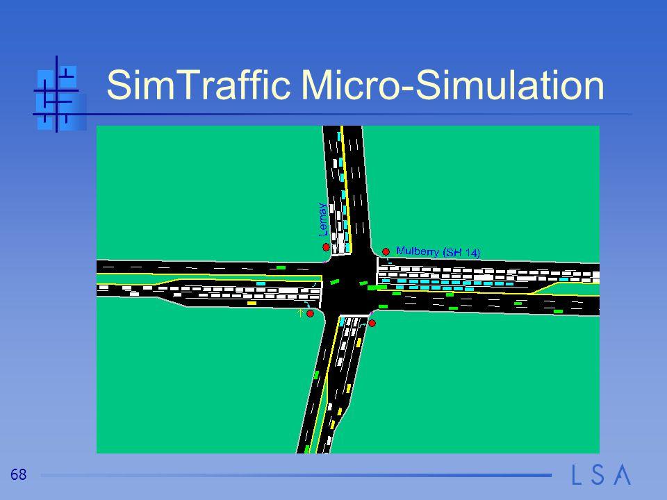 68 SimTraffic Micro-Simulation