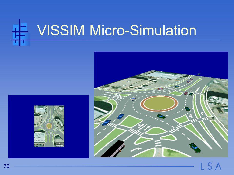 72 VISSIM Micro-Simulation