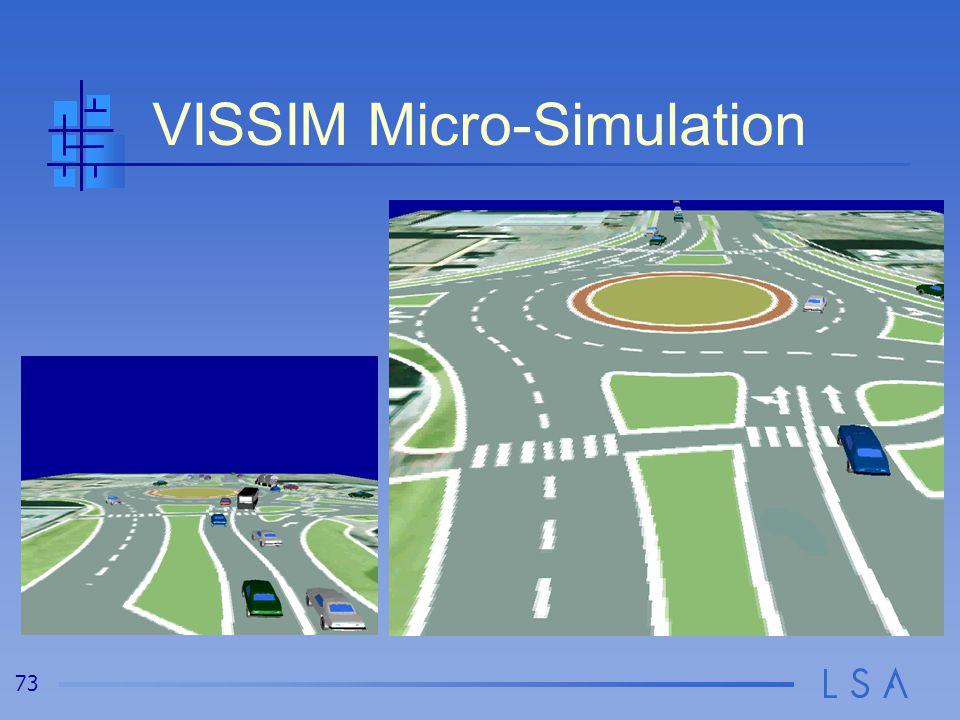 73 VISSIM Micro-Simulation