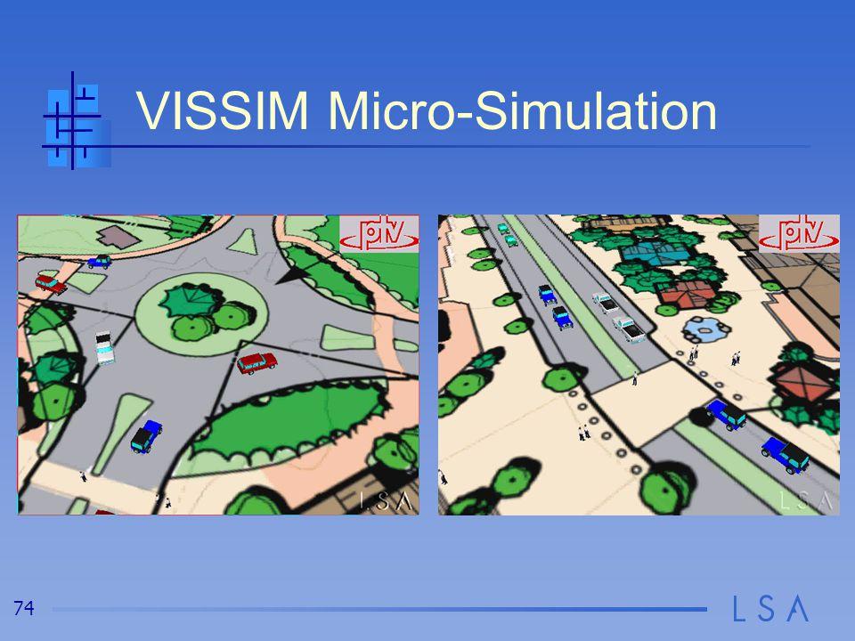 74 VISSIM Micro-Simulation