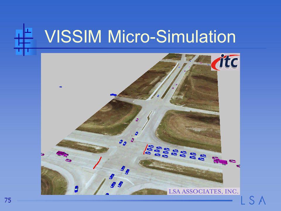 75 VISSIM Micro-Simulation