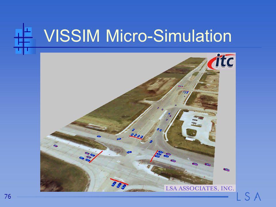 76 VISSIM Micro-Simulation